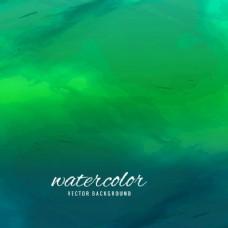 绿色背景与水彩纹理