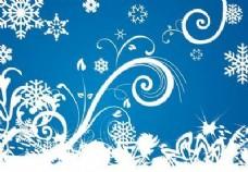 冬天雪花背景的漩涡