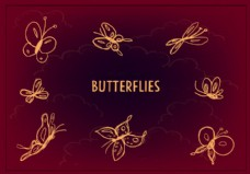 自由蝴蝶图标矢量