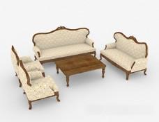 简欧花纹组合沙发