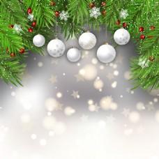 圣诞球云杉叶