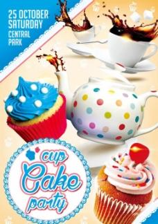 创意蛋糕海报