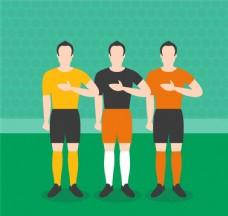 创意足球运动员设计矢量素材