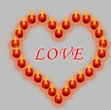情人节爱心红烛