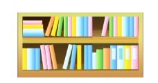 矢量书籍书架