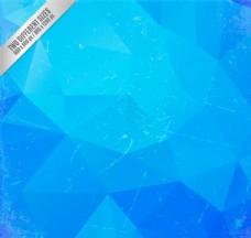 复古蓝色几何形背景矢量素材