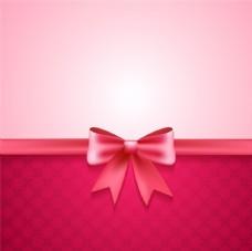 粉色蝴蝶结装饰背景矢量素材