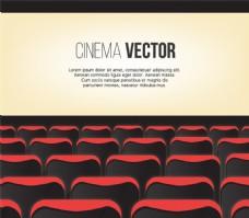 电影院放映厅设计矢量素材