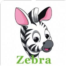 卡通动物头像 斑马加英文名称