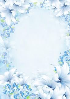 花朵相框 百合花
