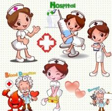 医院素材卡通小护士
