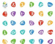 2016里约奥运项目标志