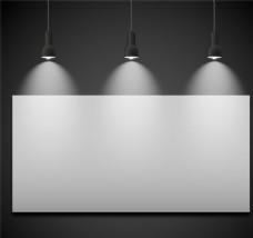 展板与聚光灯设计矢量素材
