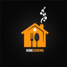创意餐厅菜单logo设计矢量素