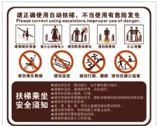 扶梯 安全 标识 货梯 消防知