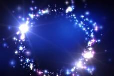 蓝色炫光星光背景