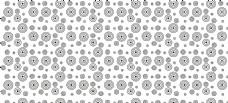无缝拼花 欧式花 硅藻泥矢量图