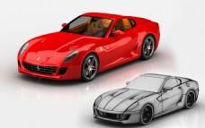 法拉利599 GTB 跑车