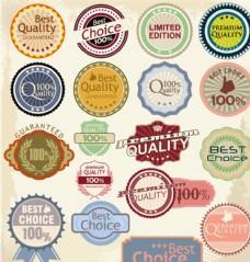 复古彩色促销标签矢量素材