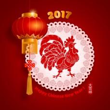 2017鸡年 新年海报