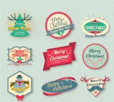 精美圣诞新年标签矢量素材