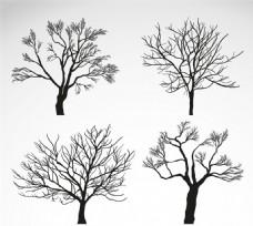 冬季树木矢量素材