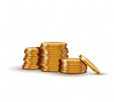 堆叠金币设计矢量素材