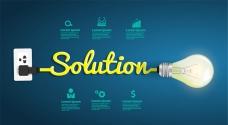 创意灯泡商务信息图矢量图