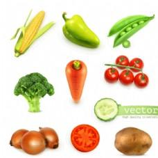 新鮮蔬菜設計矢量素材