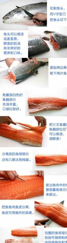 三文鱼分割步骤