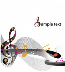 音乐线条高雅矢量图案素材