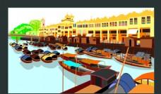 卡通威尼斯水城