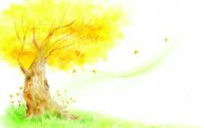 唯美梦幻大树背景底纹