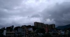 台风云雾延时摄影