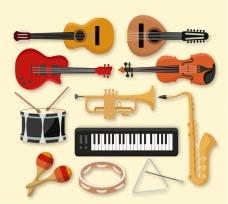 精美乐器设计矢量素材