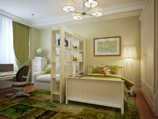 卧室书房装饰效果高清图片