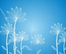 线条花卉图案矢量图形设计