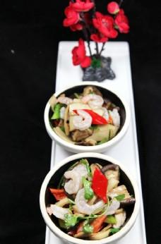 烤蘑菇炒虾仁