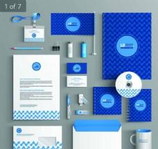 蓝色大气VI设计
