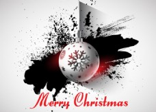 圣诞节水墨背景装饰球