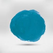 蓝色圆形水彩污点
