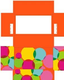 彩色圆圈时尚女鞋盒设计