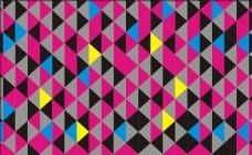 彩色三角形背景图案