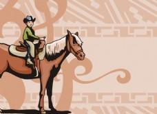 骑牛的娃娃