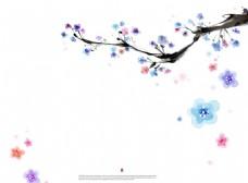 手绘梅花花纹图案