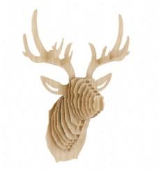 木头插接 简约鹿头