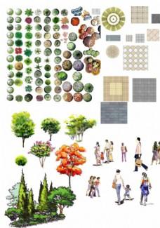 园林景观设计效果图素材