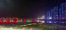 浏阳河入江口夜景