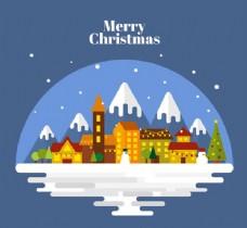 圣诞节平安夜插画