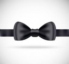 精美黑色领结矢量素材